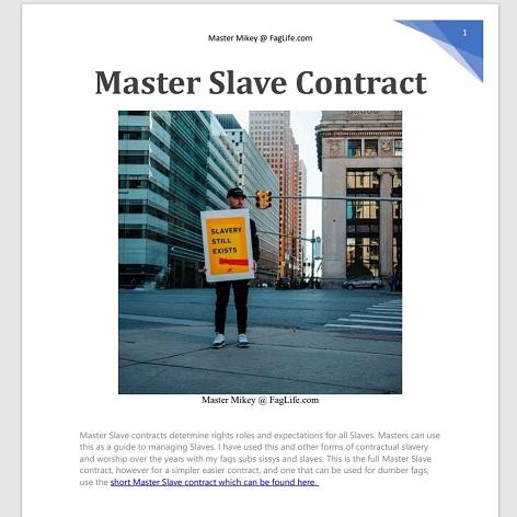 Master Slave Contract PDF Download